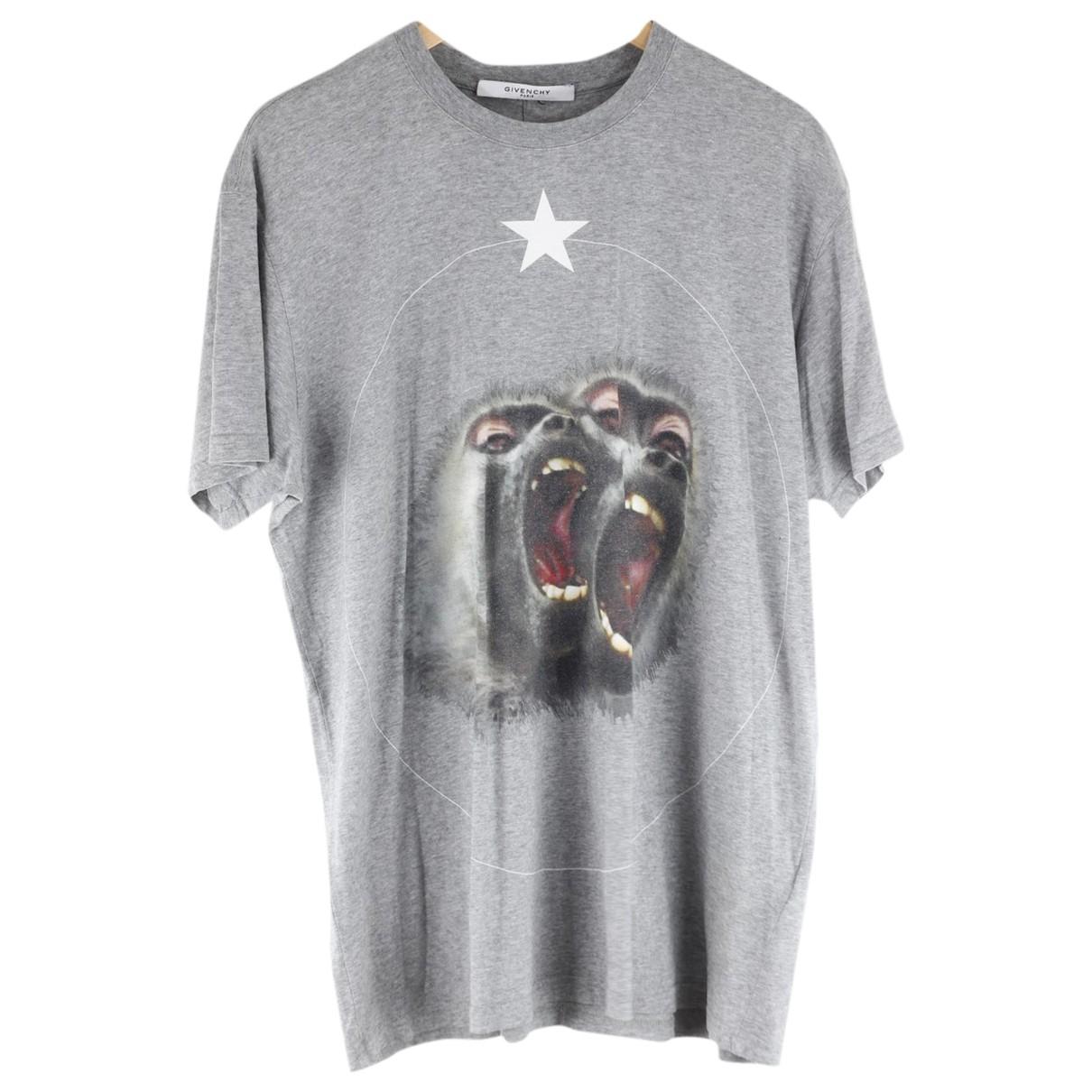 Givenchy - Tee shirts   pour homme en coton - gris