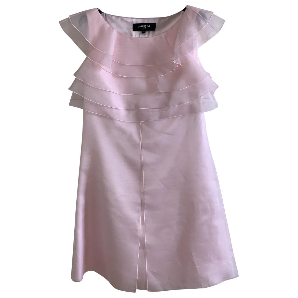 Paule Ka \N Kleid in  Rosa Seide