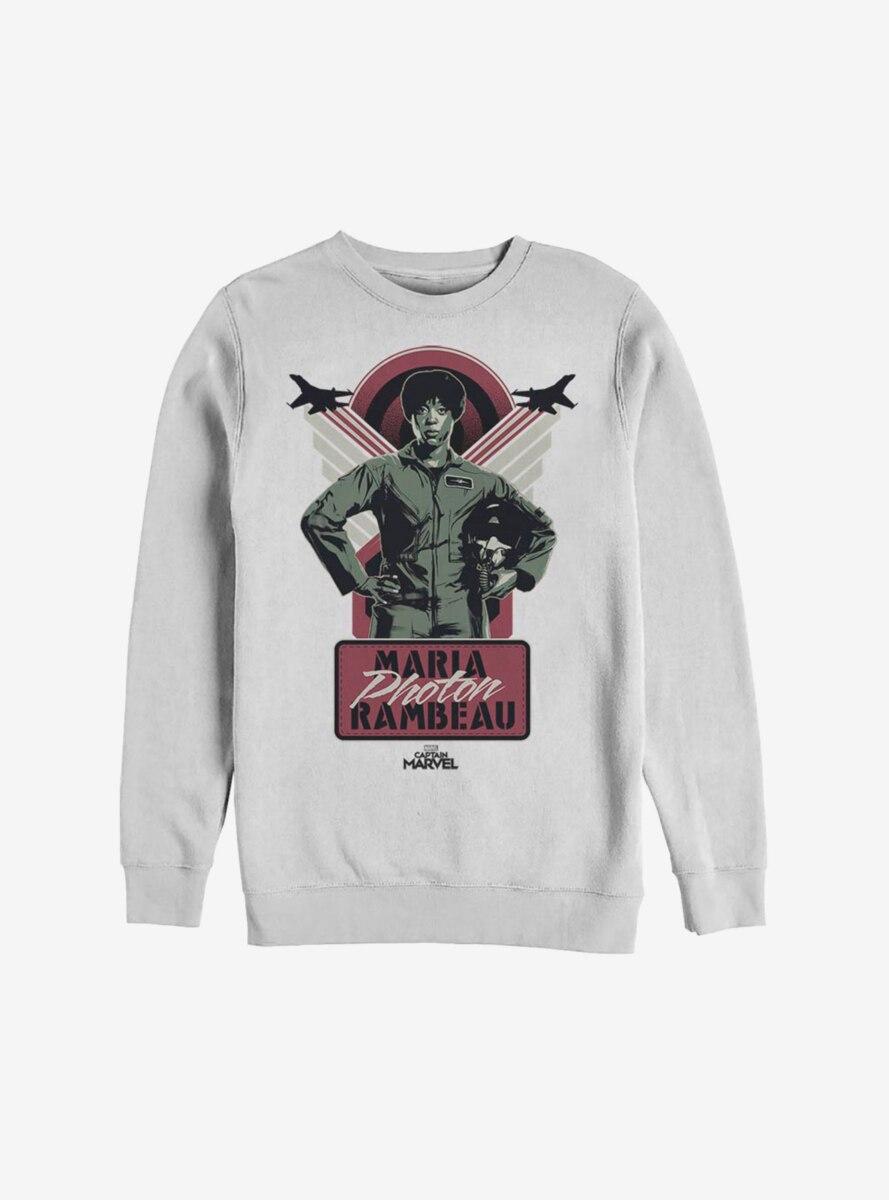 Marvel Captain Marvel Maria Photon Rambeau Sweatshirt