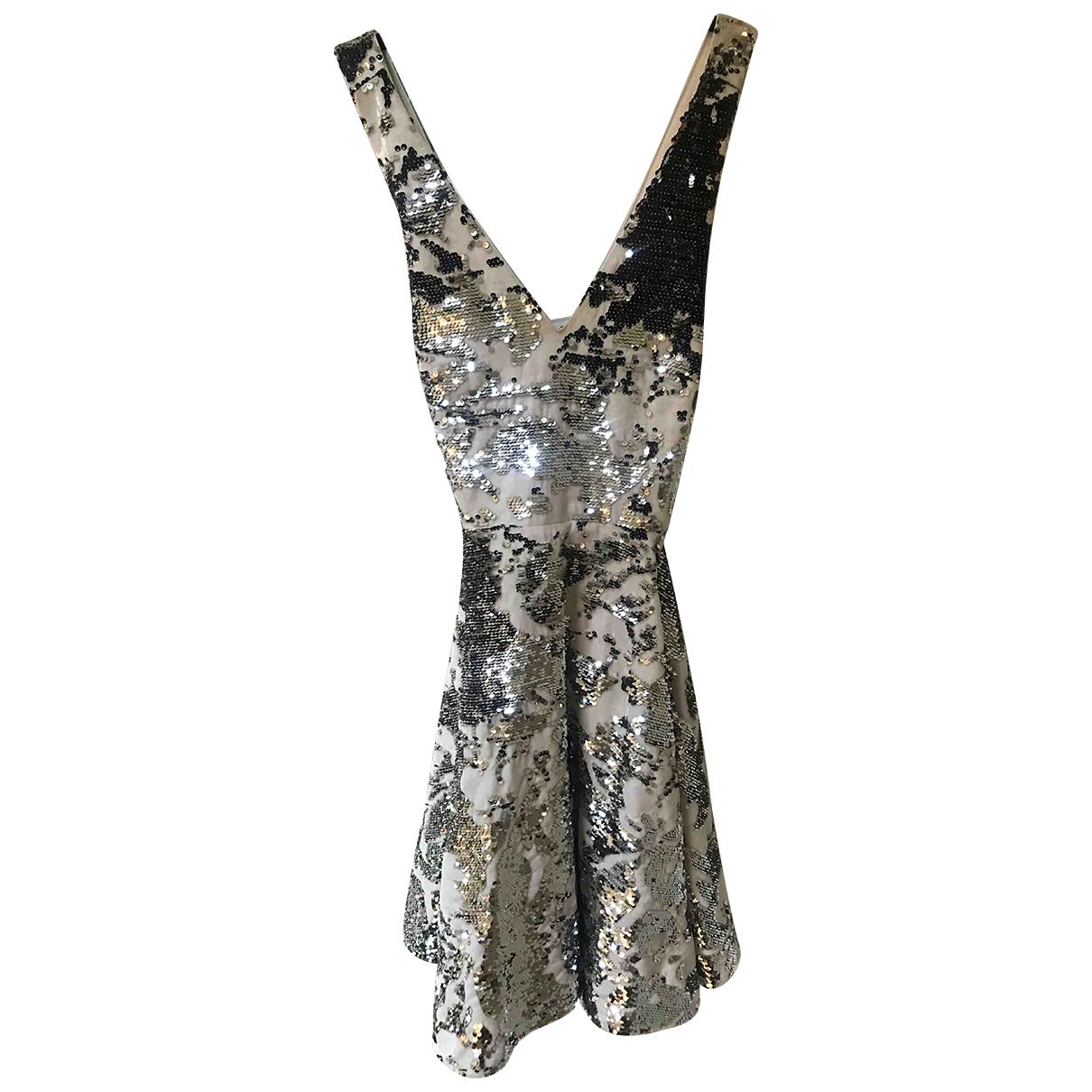 Maje \N Kleid in  Silber Mit Pailletten