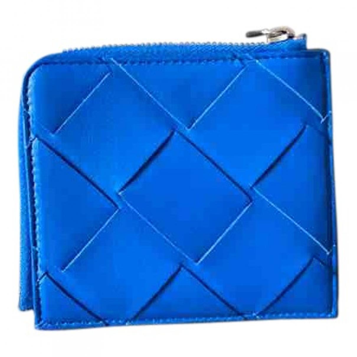 Bottega Veneta Intrecciato Kleinlederwaren in  Blau Leder