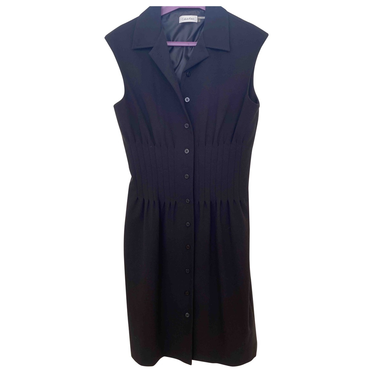 Calvin Klein - Robe   pour femme en coton - elasthane - noir