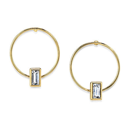 1928 14K Gold Over Brass Hoop Earrings, One Size , Yellow