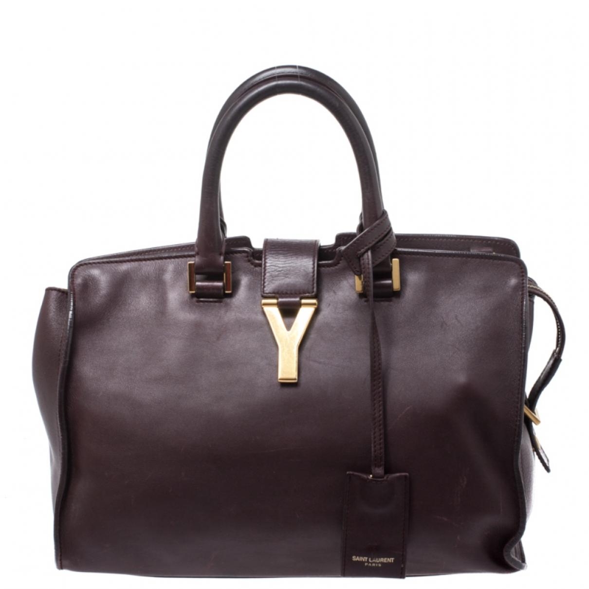 Saint Laurent Chyc Burgundy Leather handbag for Women \N