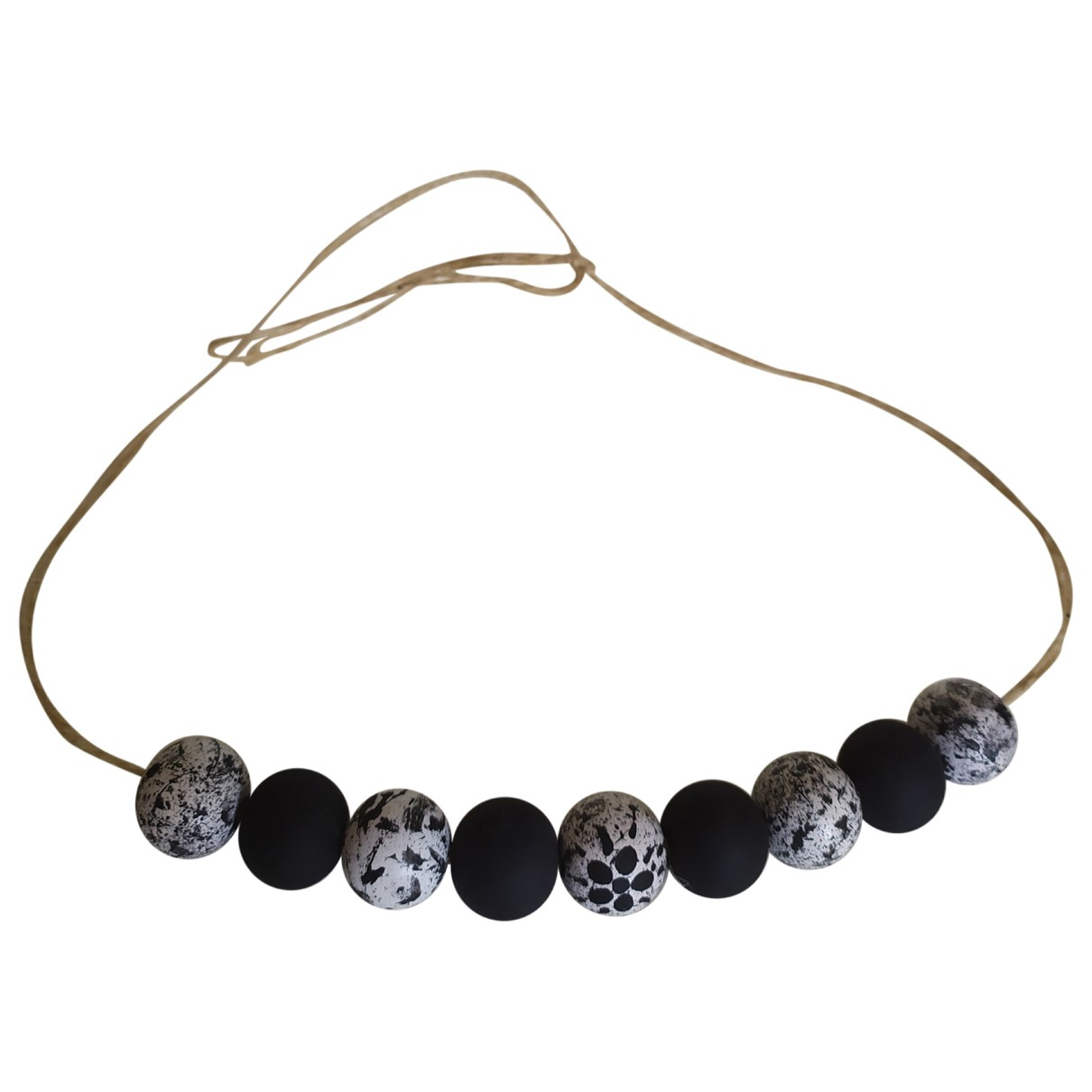 Non Signé / Unsigned \N Black Wood necklace for Women \N