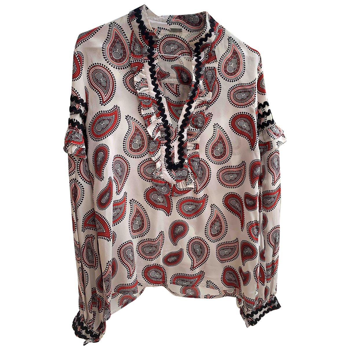 Dodo Bar Or - Top   pour femme en soie - gris