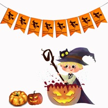 1pc Halloween Decorative Pull Flag