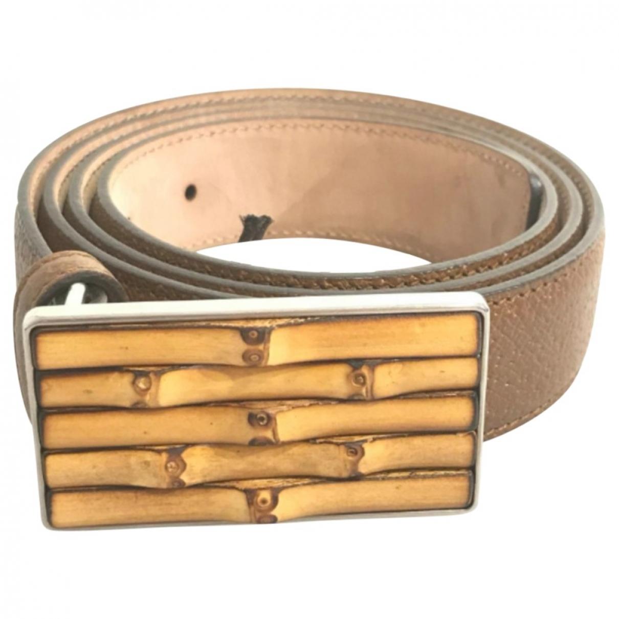 Gucci \N Brown Leather belt for Men XL international