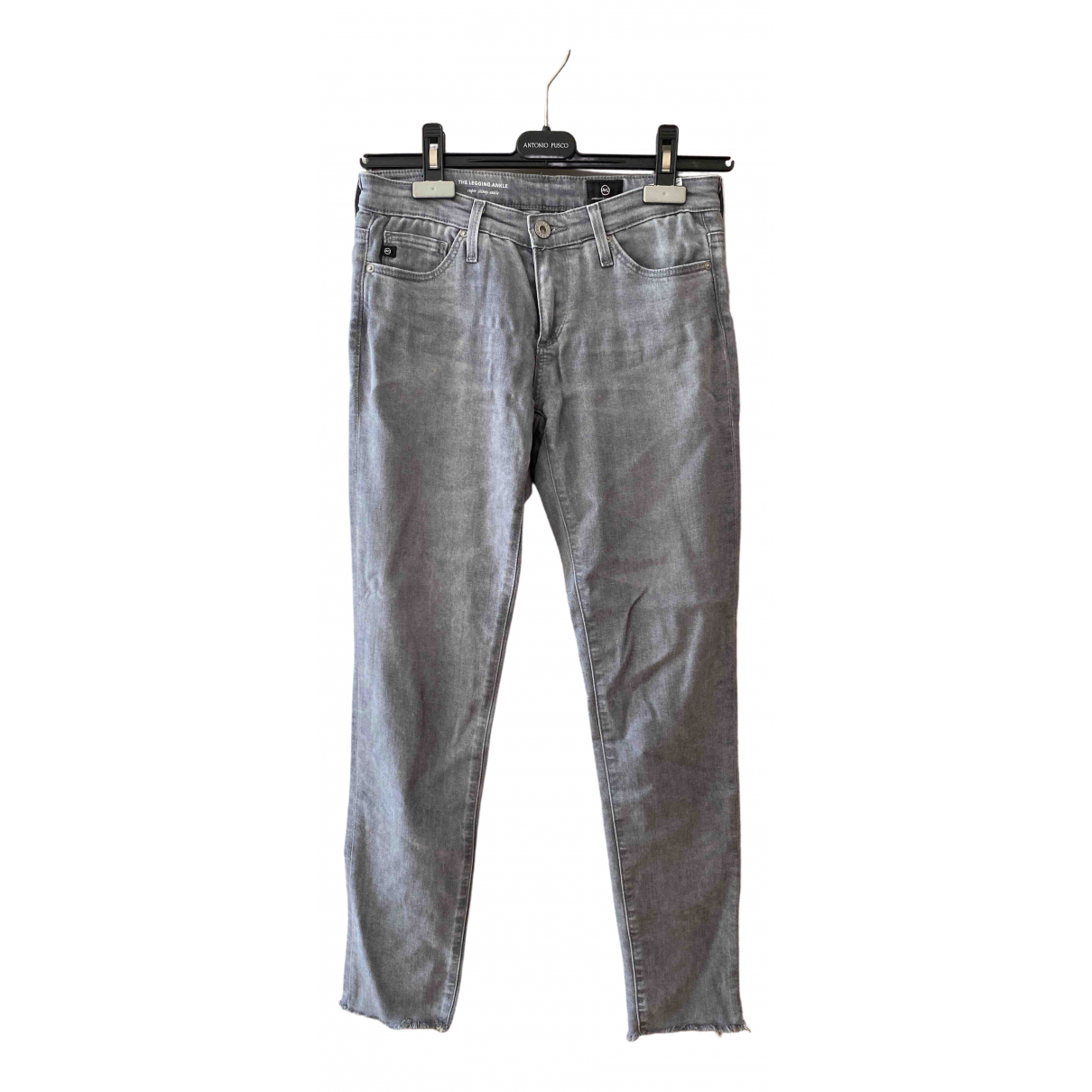 Adriano Goldschmied \N Grey Cotton - elasthane Jeans for Women 24 US