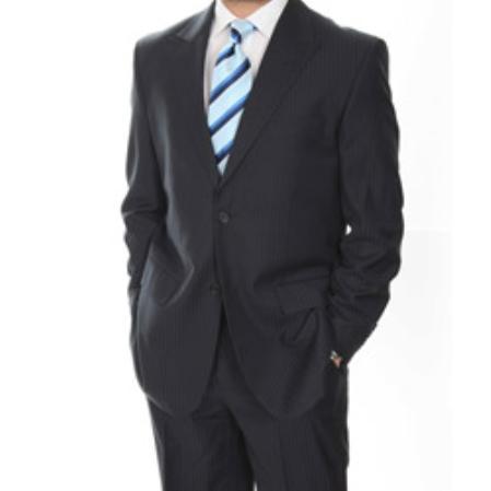 2 Button Peaked Lapel Suit Mens