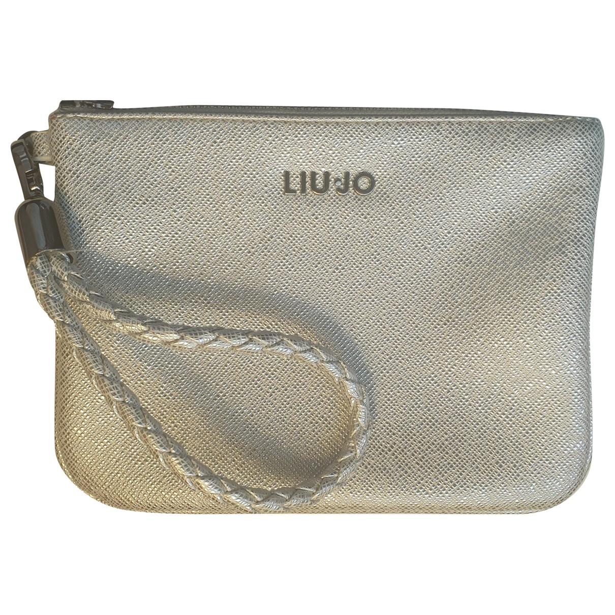 Liu.jo \N Clutch in  Silber Kunststoff