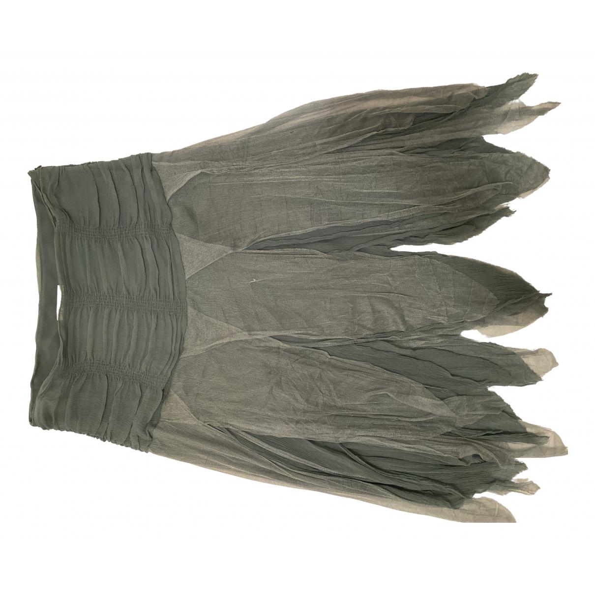 Blumarine N Green Silk skirt for Women 44 IT