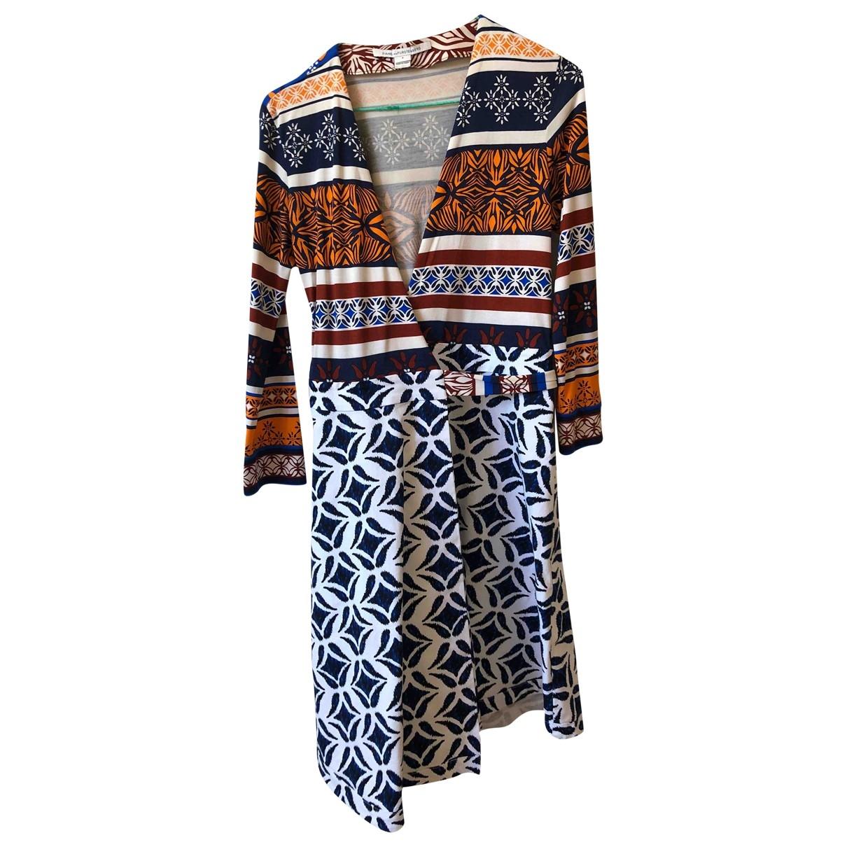Diane Von Furstenberg \N Kleid in  Bunt Baumwolle - Elasthan