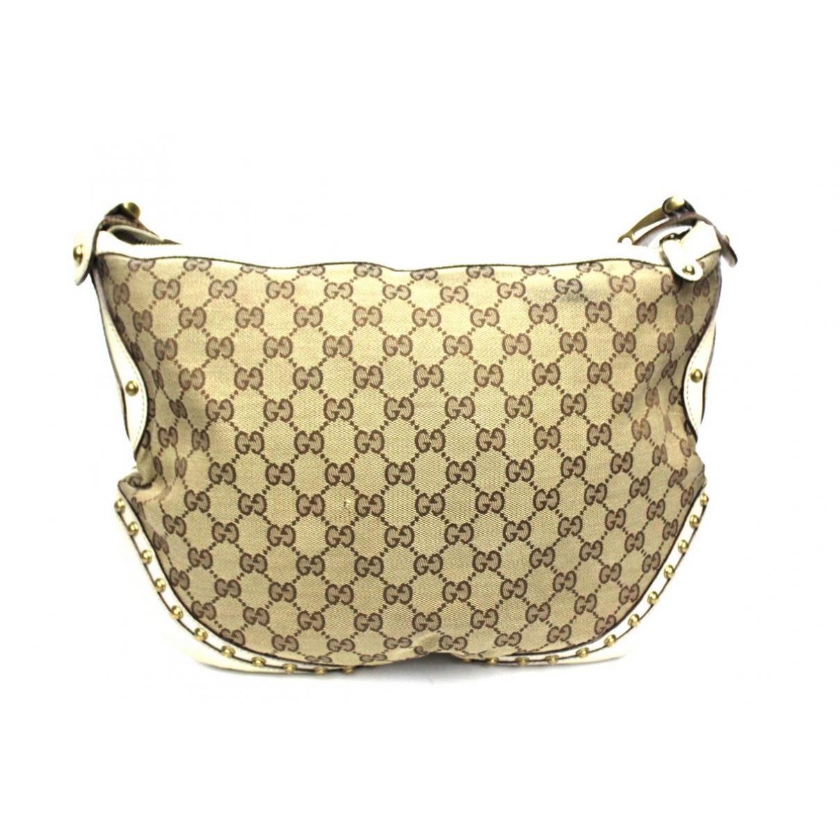 Gucci Pelham Handtasche in  Beige Leinen
