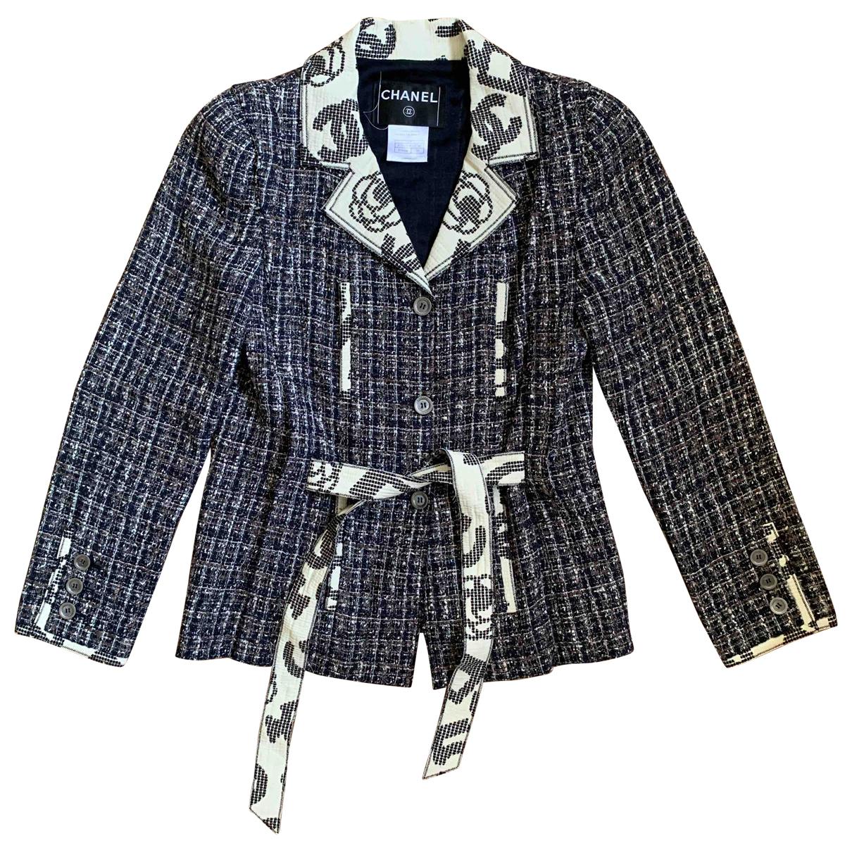 Chanel - Veste   pour femme en coton - multicolore