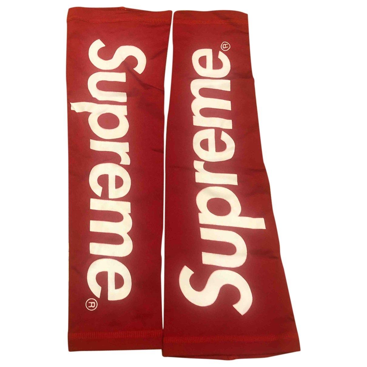 Supreme \N Red Gloves for Men XL