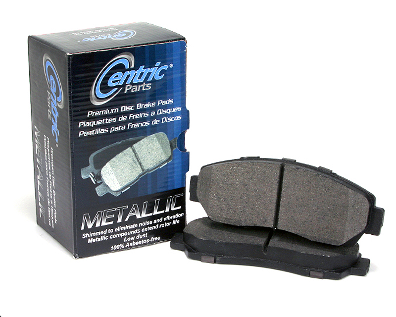 Centric Premium Ceramic Brake Pads with Shims Rear Honda Civid del Sol 1995