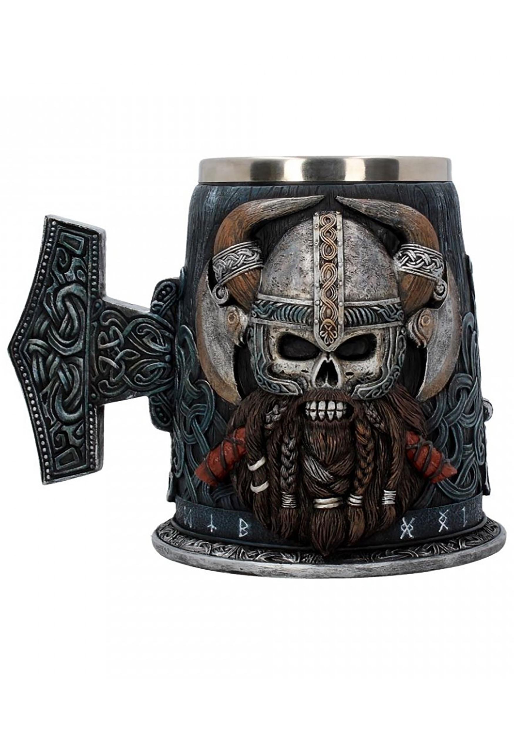 Tankard 18cm Danegeld Viking Skull