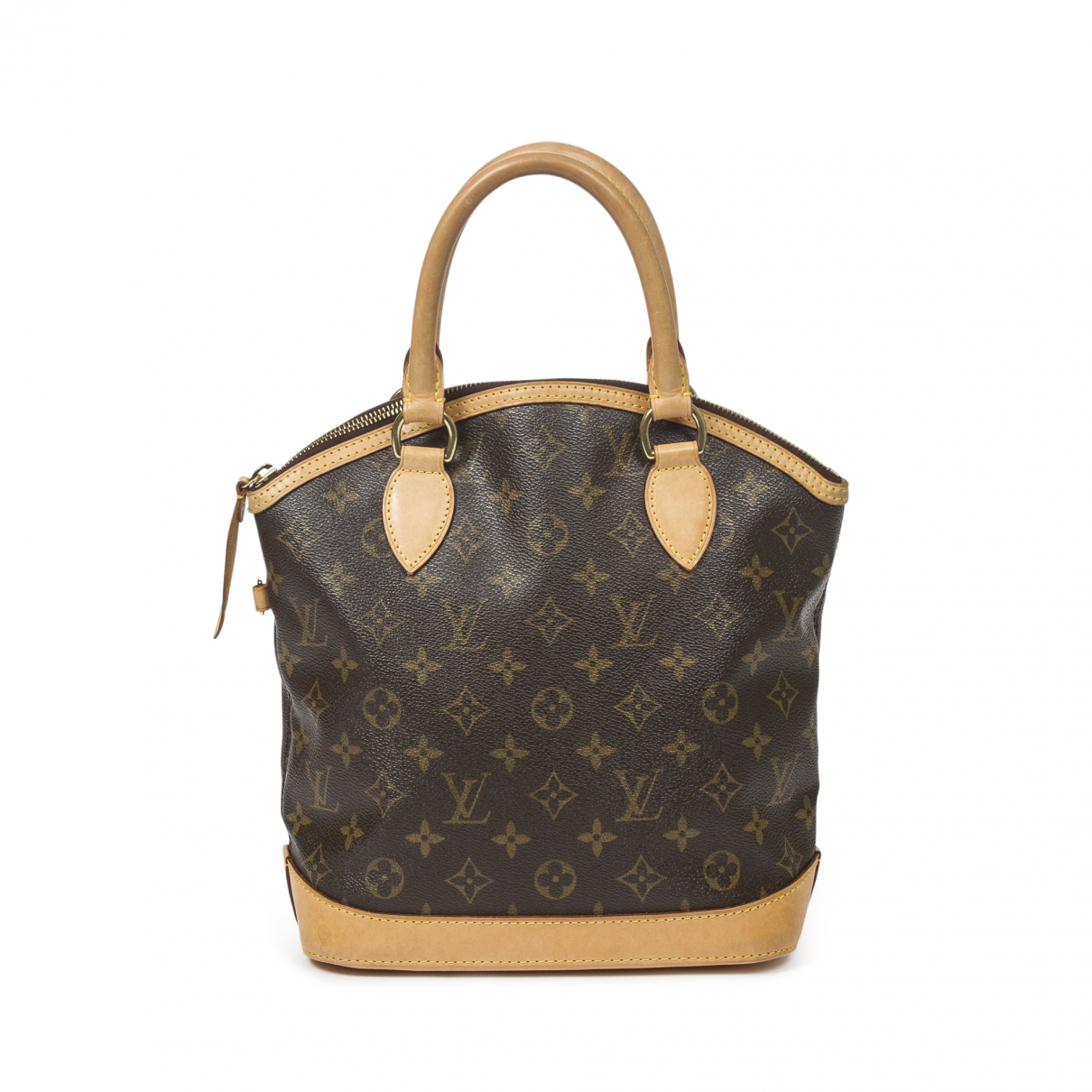 Louis Vuitton Lockit Vertical Handtasche in  Braun Baumwolle