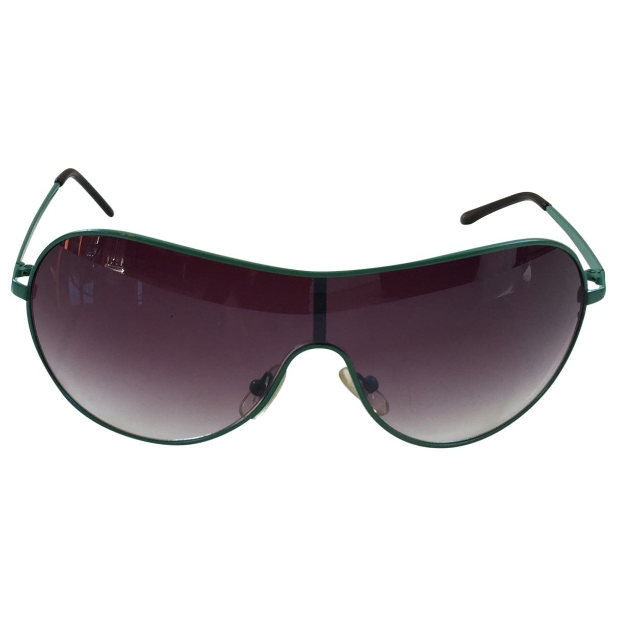 Non Signé / Unsigned \N Green Metal Sunglasses for Women \N