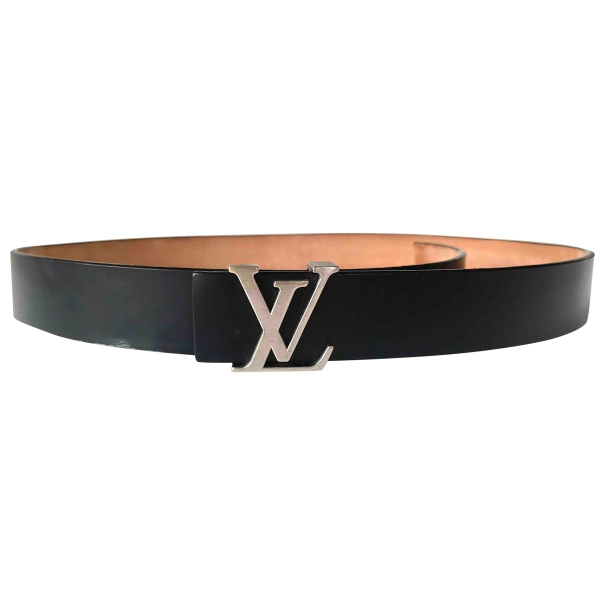 Louis Vuitton Initiales Guertel in  Schwarz Leder