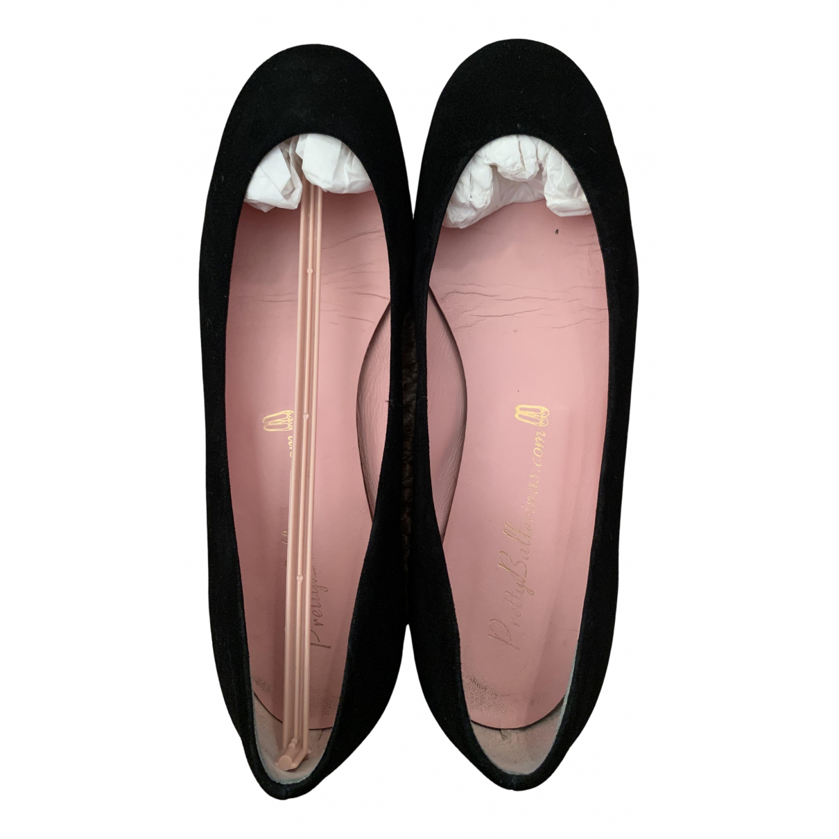 Pretty Ballerinas N Black Suede Ballet flats for Women 37.5 EU
