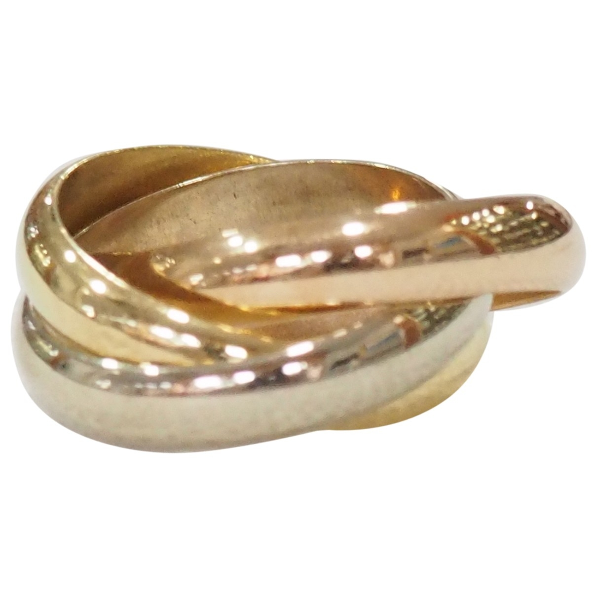 Cartier - Bague Trinity pour femme en or jaune - jaune