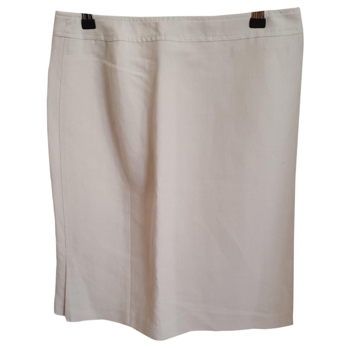 Max Mara - Jupe   pour femme en coton - blanc