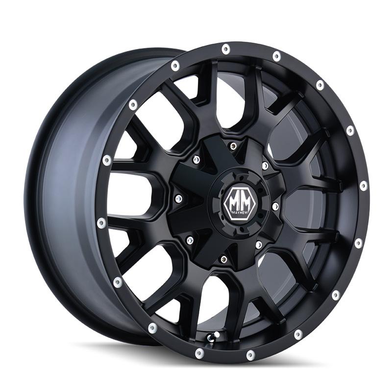 Mayhem Warrior 8015 Matte Black 20x9 6x135 | 6x139.7 0mm 108mm Wheel