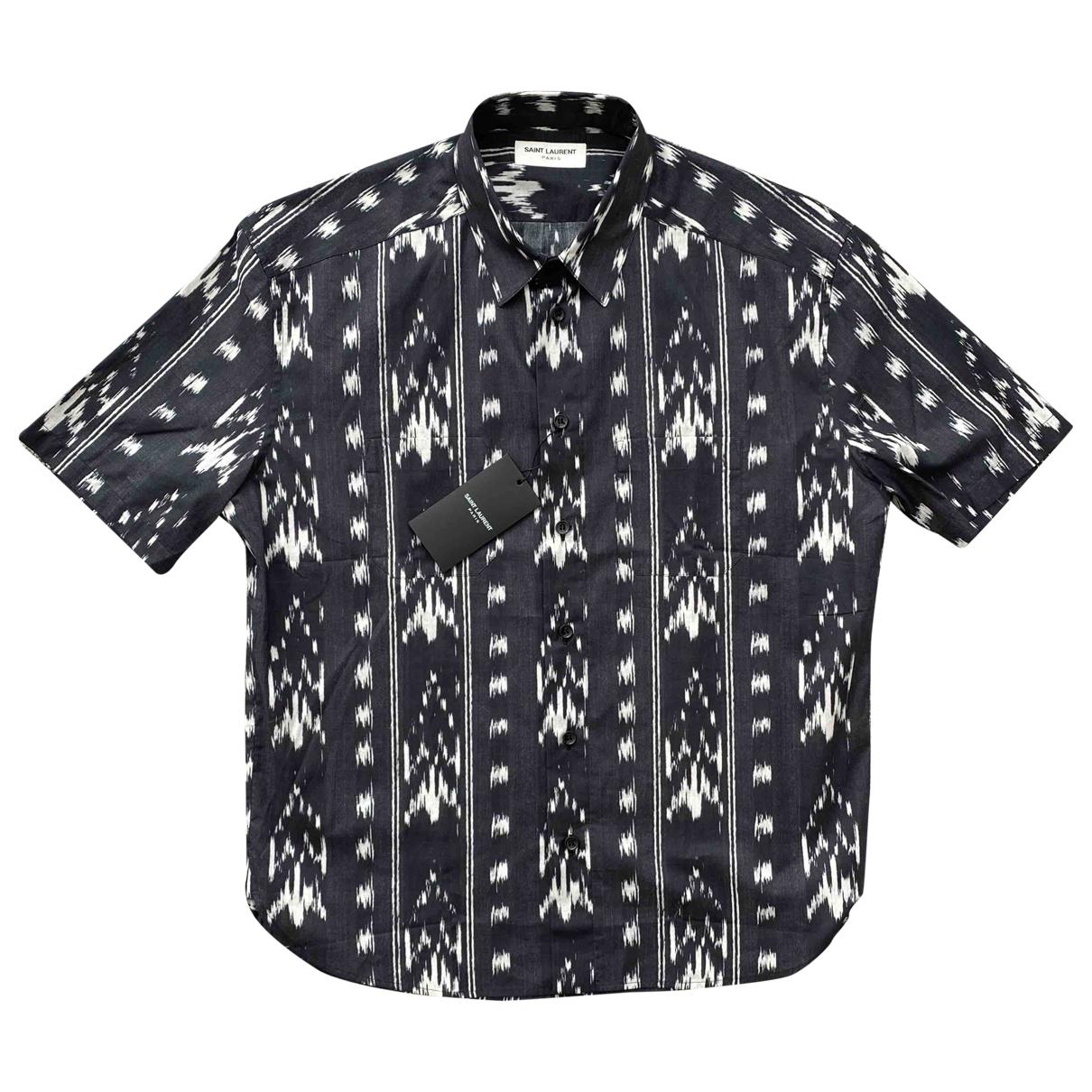 Saint Laurent \N Multicolour Cotton Shirts for Men 40 EU (tour de cou / collar)