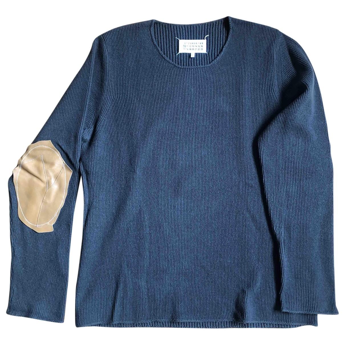 Maison Martin Margiela \N Pullover.Westen.Sweatshirts  in  Marine Wolle