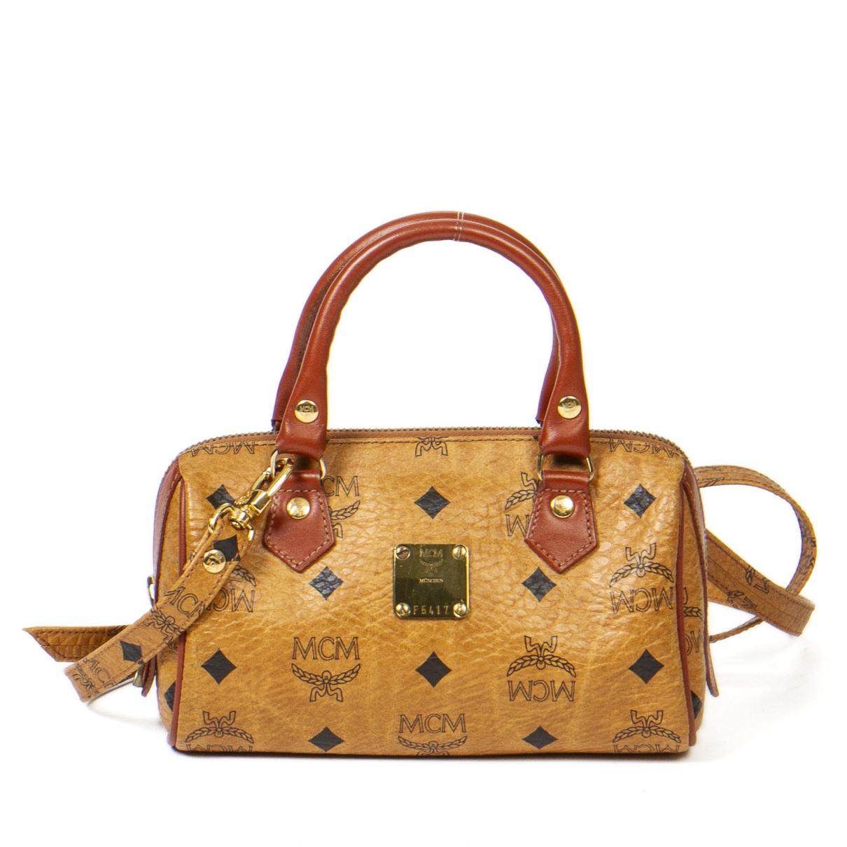 Mcm \N Handtasche in  Braun Leder