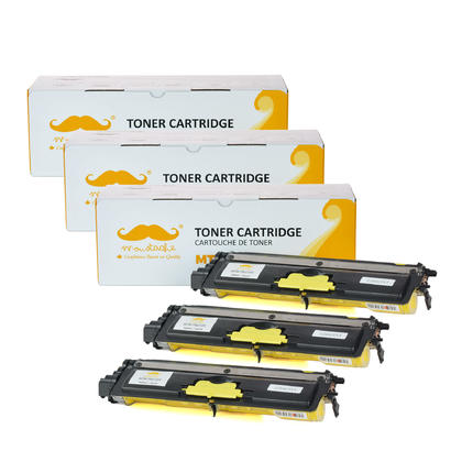 compatible Brother TN210J - TN210 jaune cartouche toner de Moustache, 3 paquet