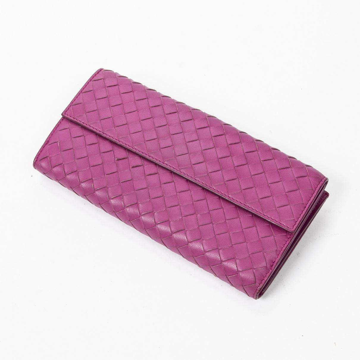 Bottega Veneta \N Purple Leather wallet for Women \N