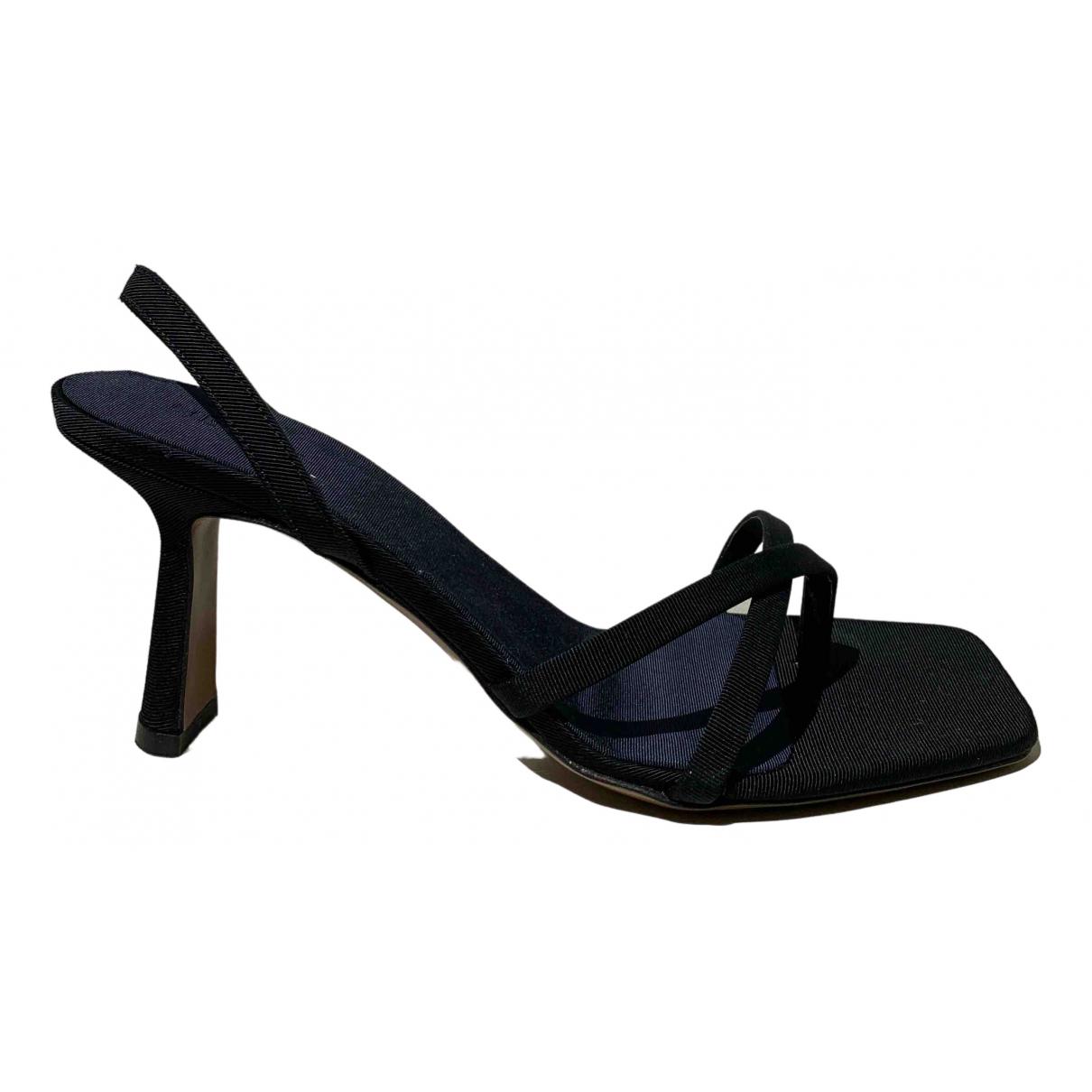 Neous - Sandales   pour femme en toile - noir