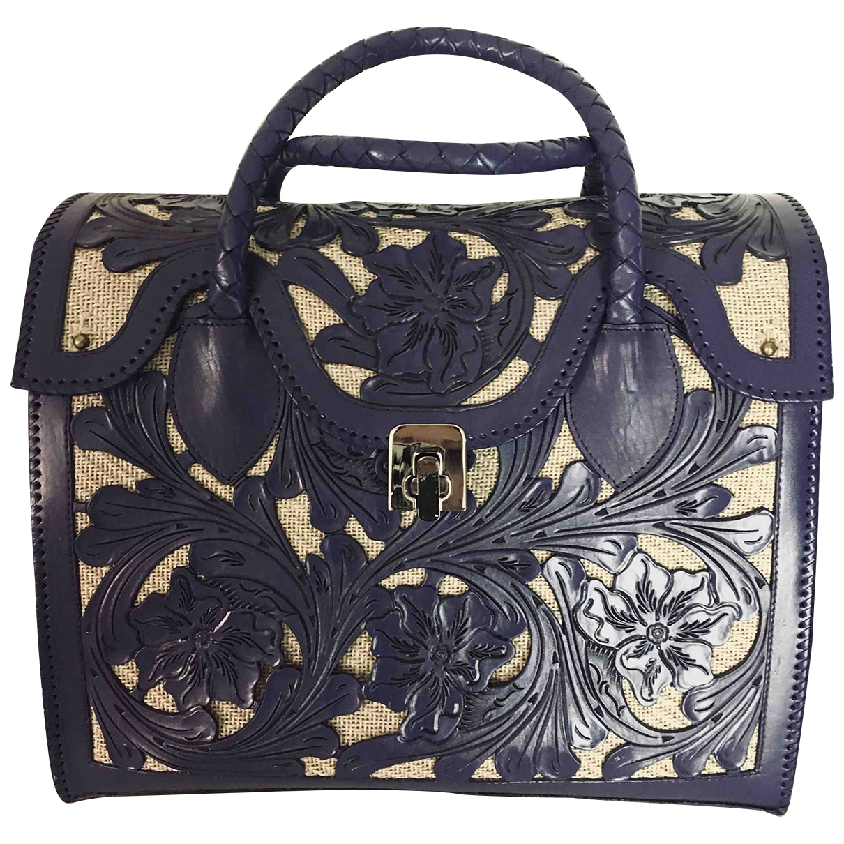 Non Signé / Unsigned \N Purple Leather Travel bag for Women \N