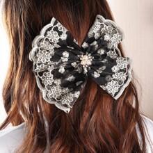 Faux Pearl Decor Hair Clip