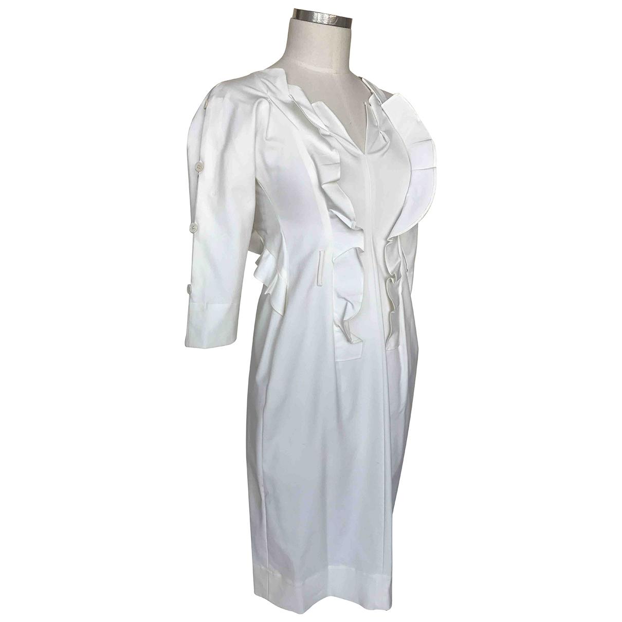 Jil Sander \N Kleid in  Weiss Baumwolle - Elasthan