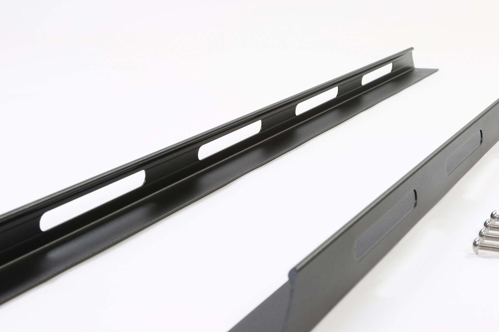 Truck Bed Rails 54 Inch Black LPS (Low Profile Slotted) Perrycraft LPS54B