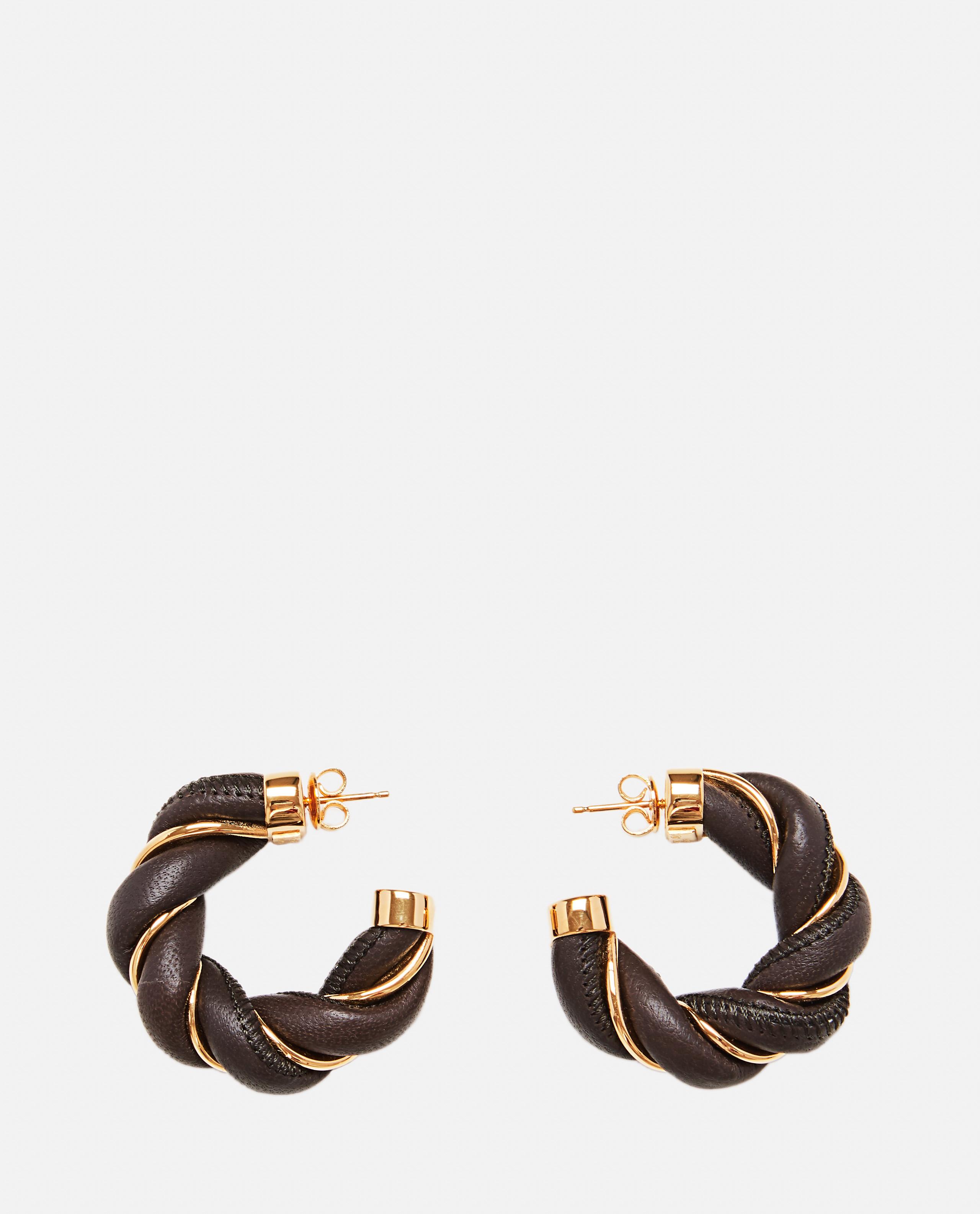 Braided leather earrings