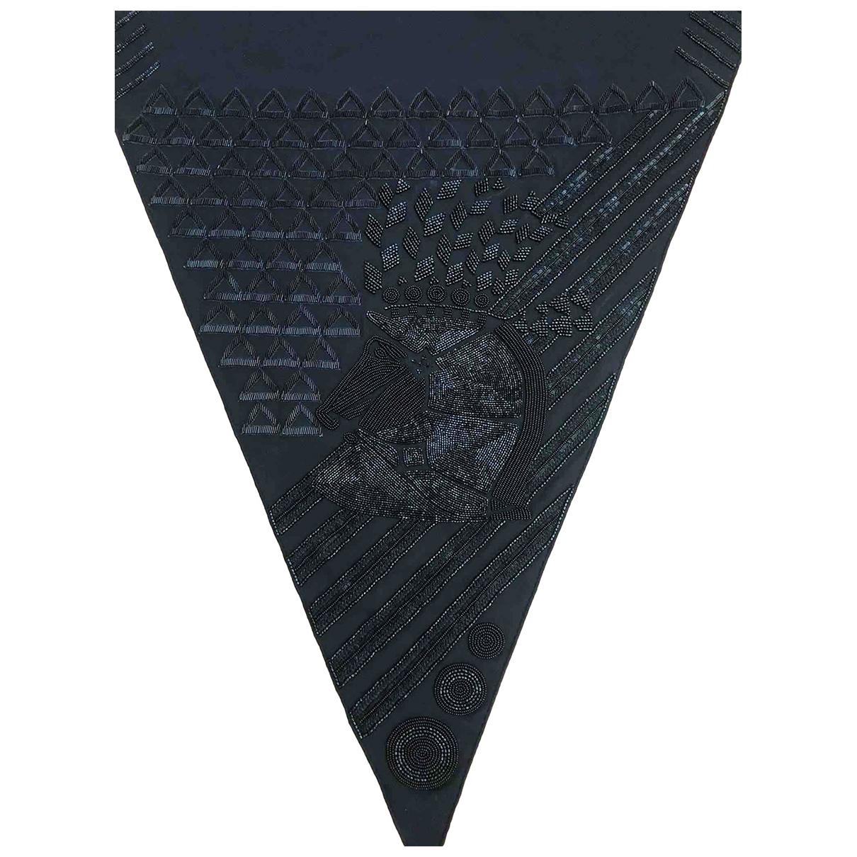 Hermes - Foulard   pour femme en soie - noir