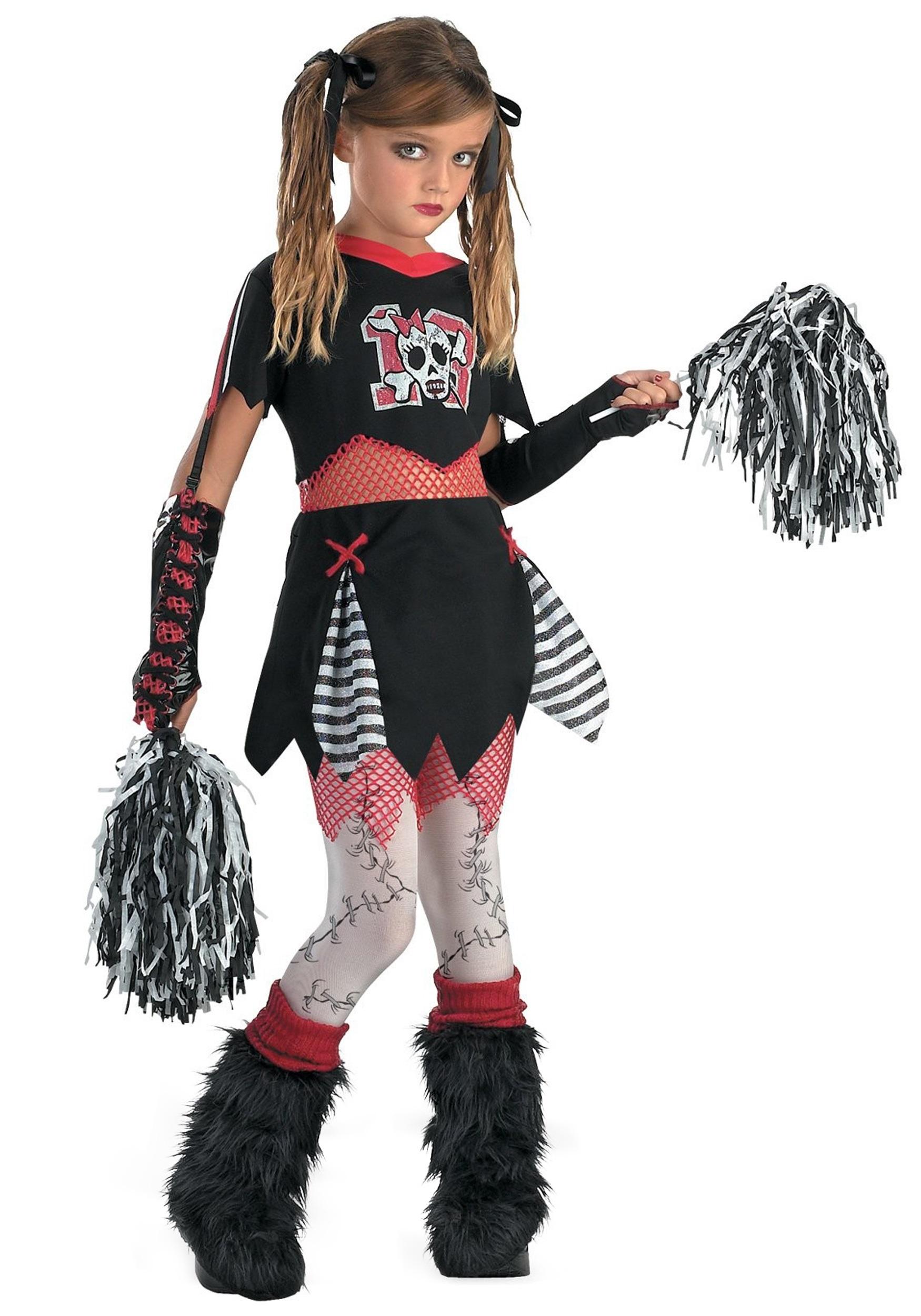 Kids Gothic Cheerleader Costume | Girl's Cheerleader Costume