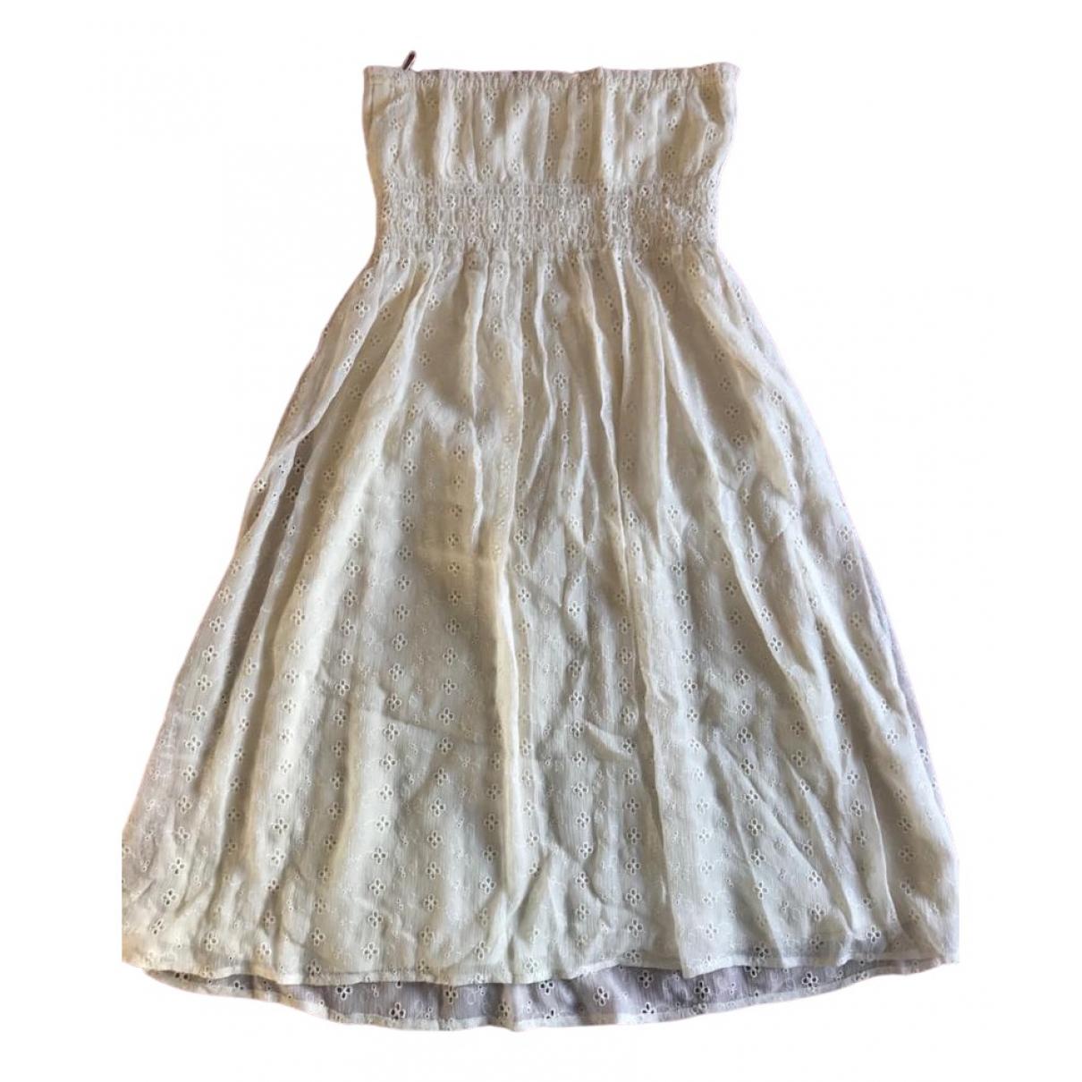 Diane Von Furstenberg - Robe   pour femme en soie - ecru