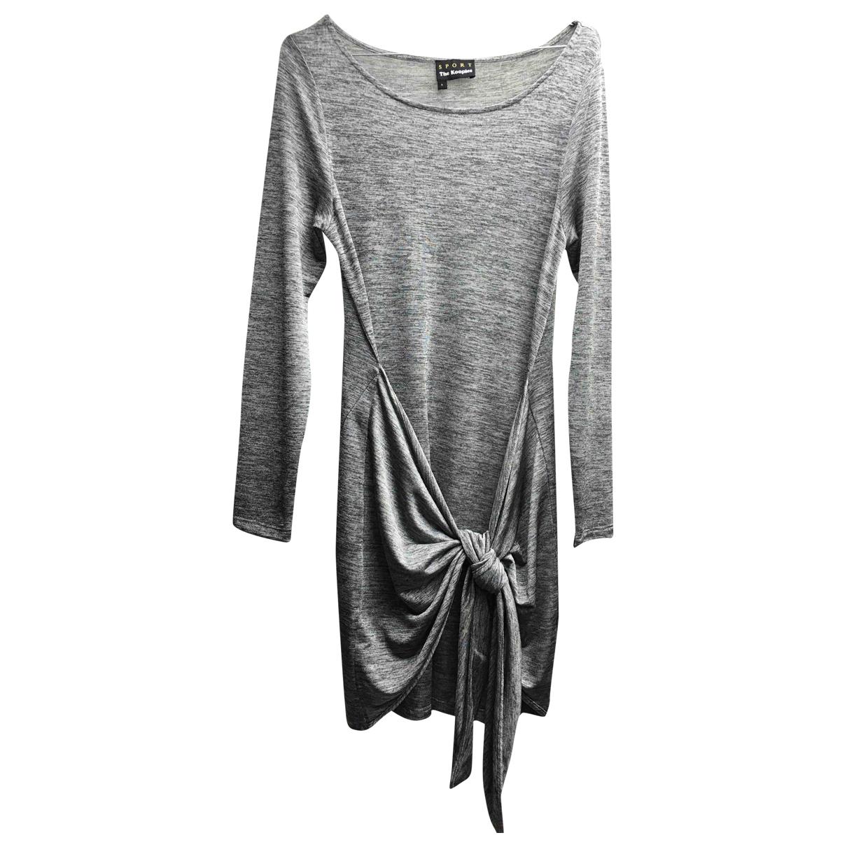 The Kooples Fall Winter 2019 Kleid in  Grau Polyester
