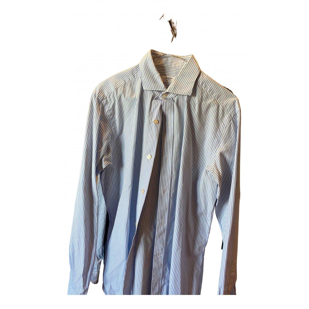 Barba - Chemises   pour homme en coton - turquoise
