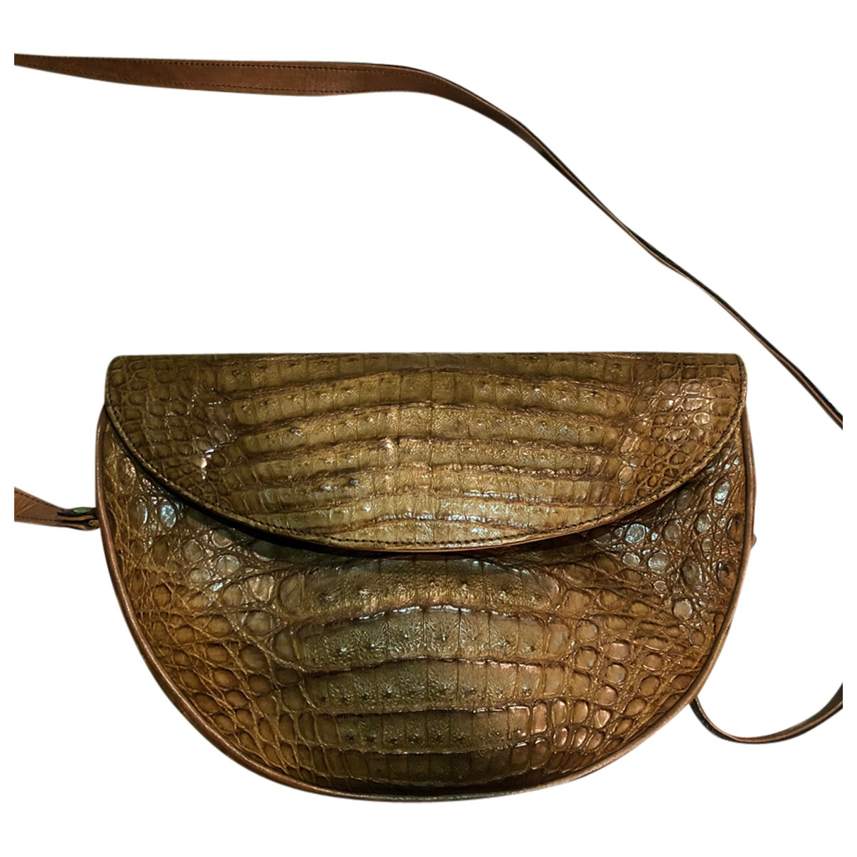 Chloé N Brown Crocodile Clutch bag for Women N