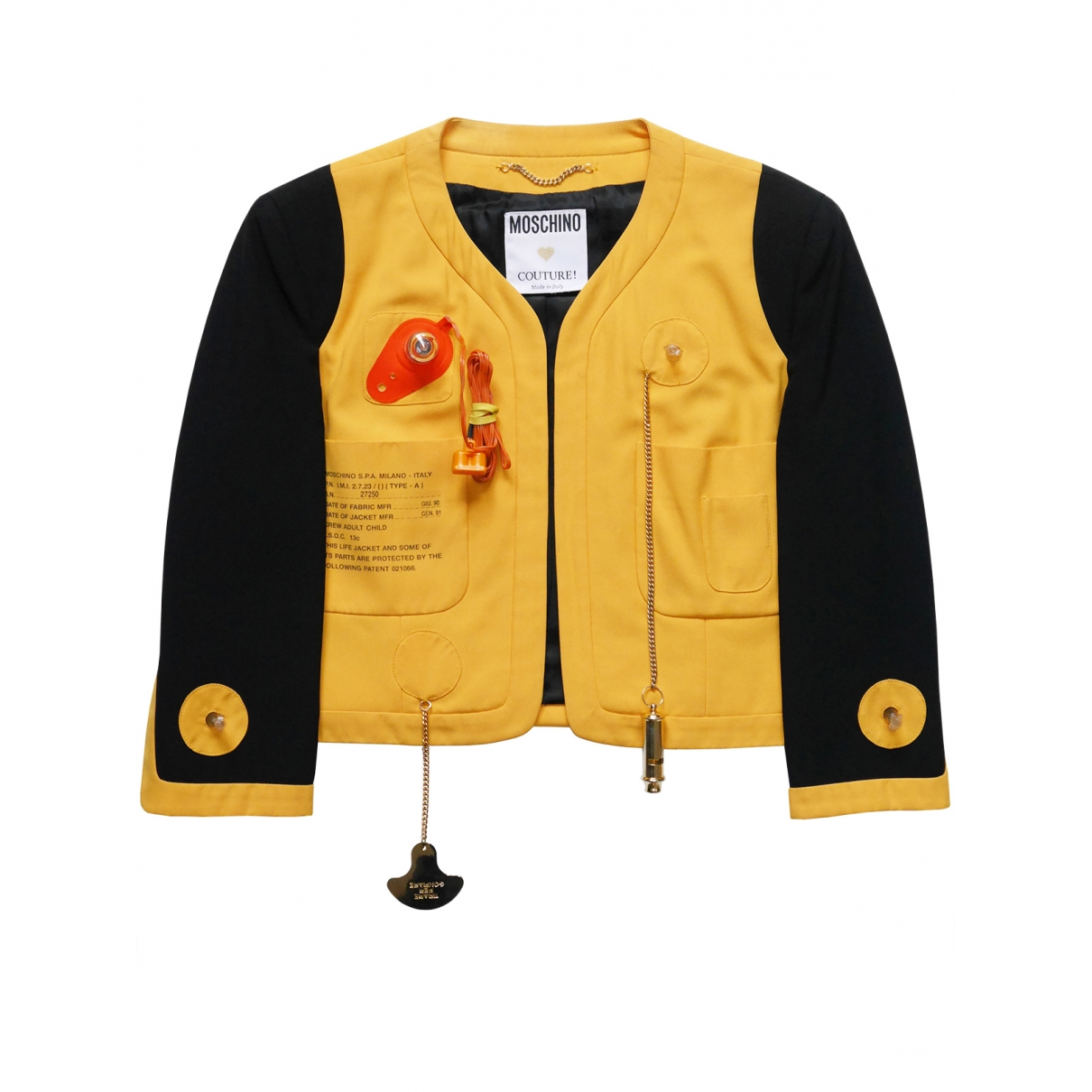 Moschino - Veste   pour femme - jaune