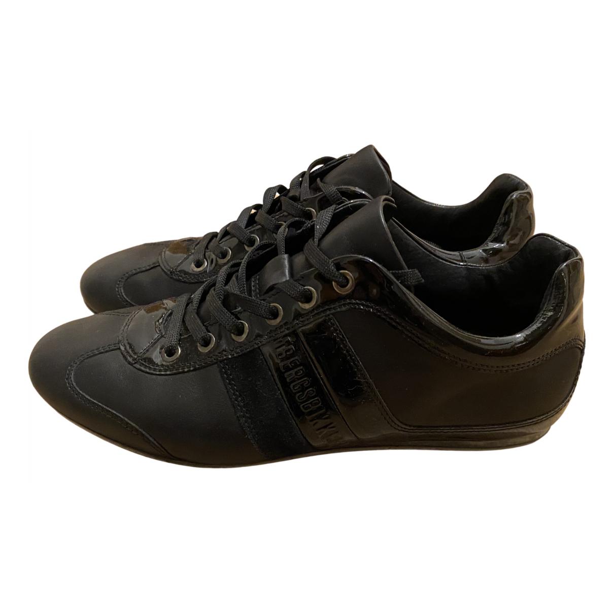 Dirk Bikkembergs - Baskets   pour homme en cuir - noir