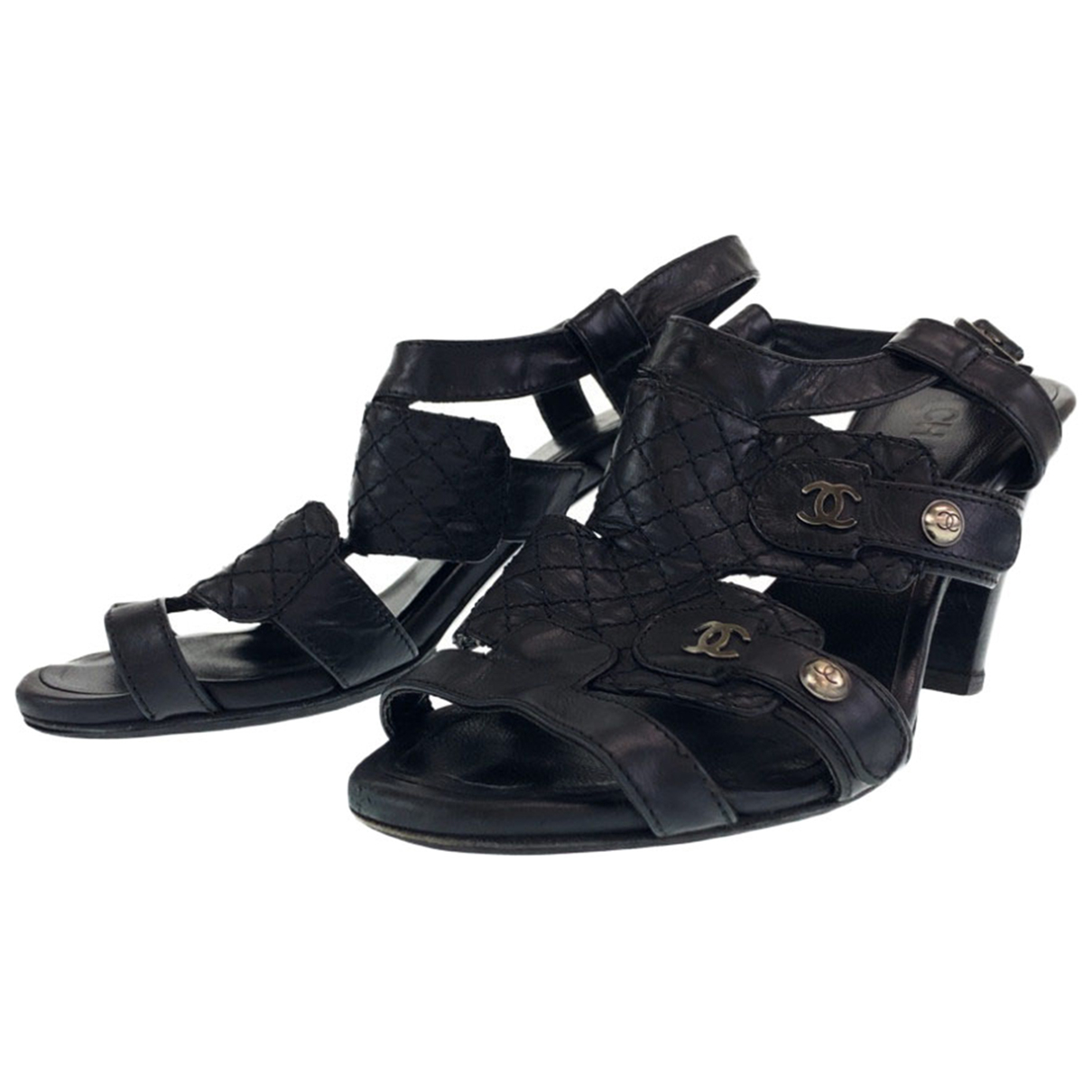 Chanel \N Leather Sandals for Women 37 EU