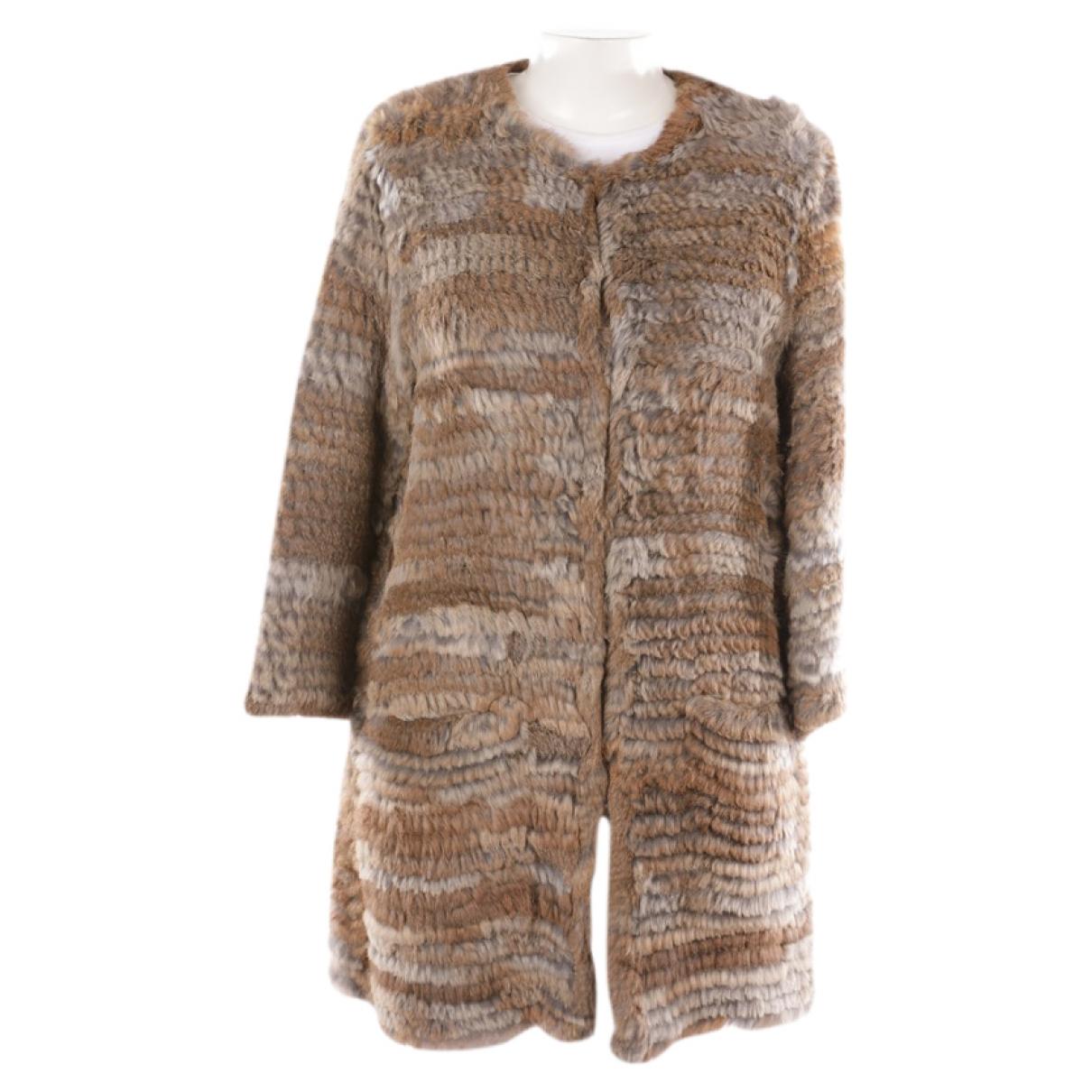 Non Signé / Unsigned \N Beige Fur jacket for Women 42 FR